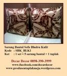 sarung bantal sofa bludru kulit SBK_BLK1