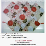 sarung bantal sofa warna orange SBK_BM (flower orange)
