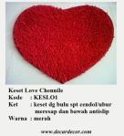 keset bentuk hati keset love KESLO1