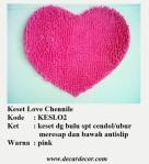 keset bentuk hati keset love KESLO2