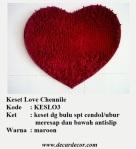 keset bentuk hati keset love KESLO3