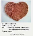 keset bentuk hati keset love KESLO5