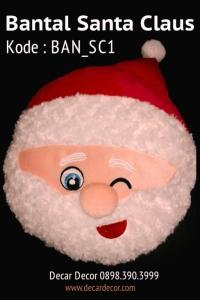 Bantal natal boneka santa claus BAN_SC1