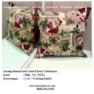 sarung bantal sofa natal