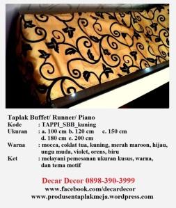 taplak piano buffet TAPPI_SBB_kuning