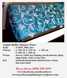 taplak piano buffet TAPPI_SBK_biru