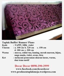 taplak piano buffet TAPPI_SBK_violet