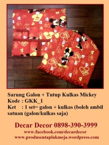 jual sarung galon mickey mouse