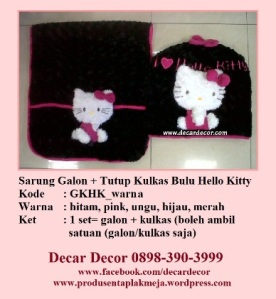 galon taplak kulkas hello kitty GKHK