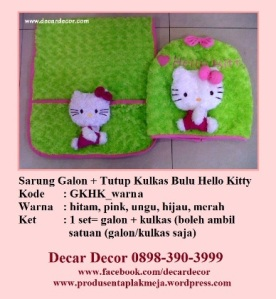 galon taplak kulkas hello kitty GKHK_hijau