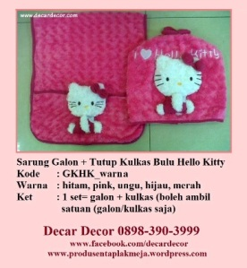 galon taplak kulkas hello kitty GKHK_pink