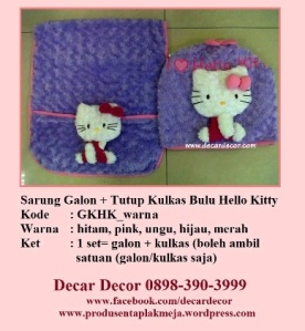 galon taplak kulkas hello kitty GKHK_ungu