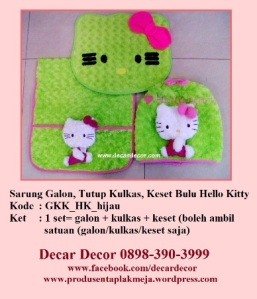 galon taplak kulkas hello kitty GKK_HK_hijau