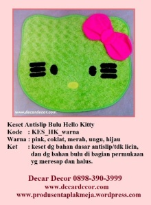 keset hello kitty KESB_HK_hijau