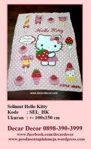 selimut hello kitty SEL_HK
