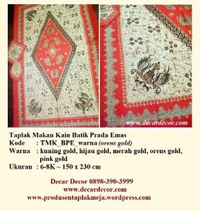 Taplak makan batik TMK_BPE_orens gold
