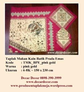 Taplak makan batik TMK_BPE_pink pgold
