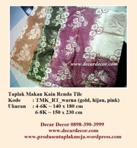 Taplak makan kain renda TMK_RT