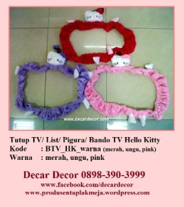 tutup TV bando TV hello kitty BTV_HK