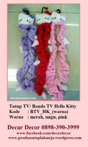 tutup TV bando TV hello kitty BTV_HK2