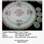 taplak meja makan bulat bunga TMK_BSAEX_4K_putih