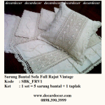 sarung bantal sofa rajut vintage, sarung bantal vintage SBK_FRV1
