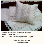 sarung bantal sofa rajut vintage, sarung bantal vintage SBK_FRV2