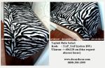 jual taplak motif animal print, taplak motif zebra, TAP_SAF1 zebra