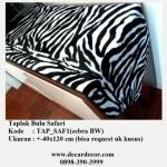 taplak motif animal print, taplak motif zebra, TAP_SAF1